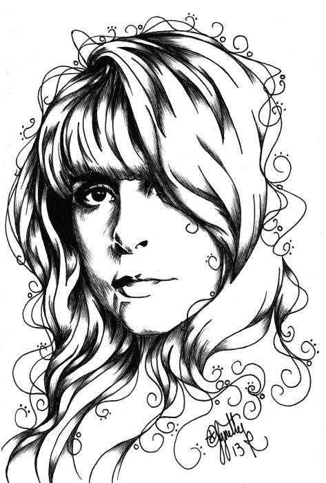stevie nicks coloring pages stevie nicks inspired art by lynette kirby coloring stevie pages nicks