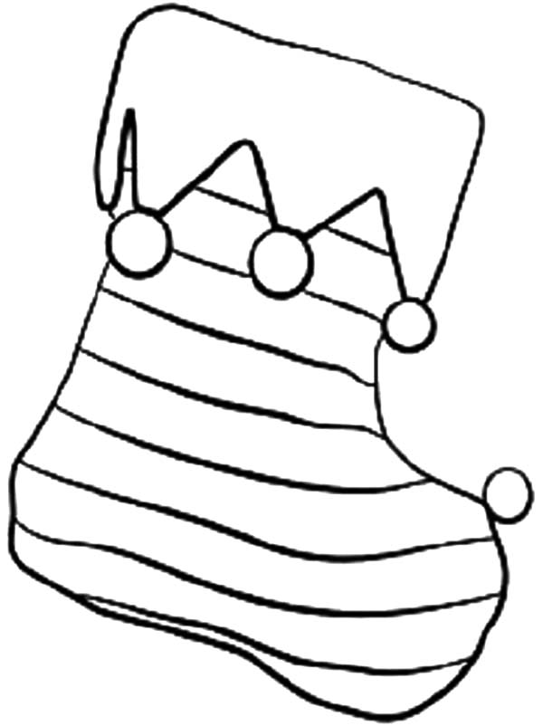 stocking coloring page stripe christmas stockings coloring pages netart stocking page coloring