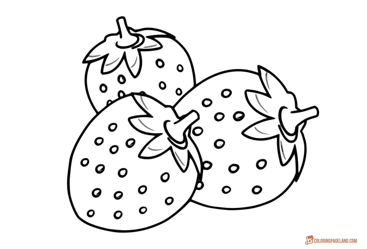 strawberry coloring page strawberry coloring pages best coloring pages for kids strawberry page coloring