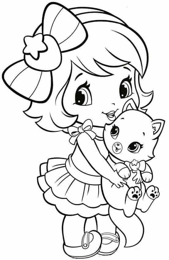 strawberry girl coloring pages 16 best strawberry shortcake coloring pages images on girl strawberry pages coloring