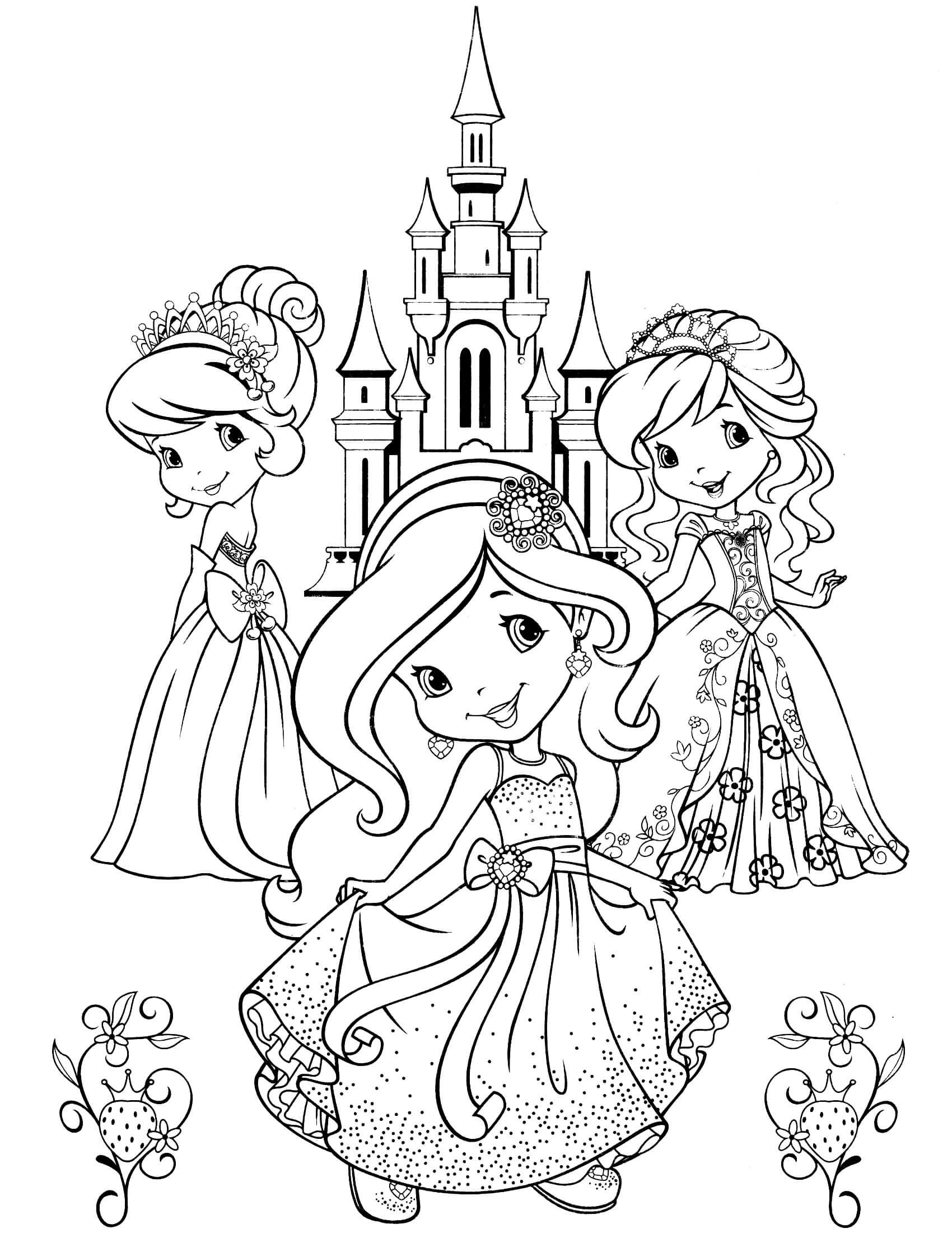 strawberry girl coloring pages princess strawberry shortcake coloring pages coloring girl strawberry pages