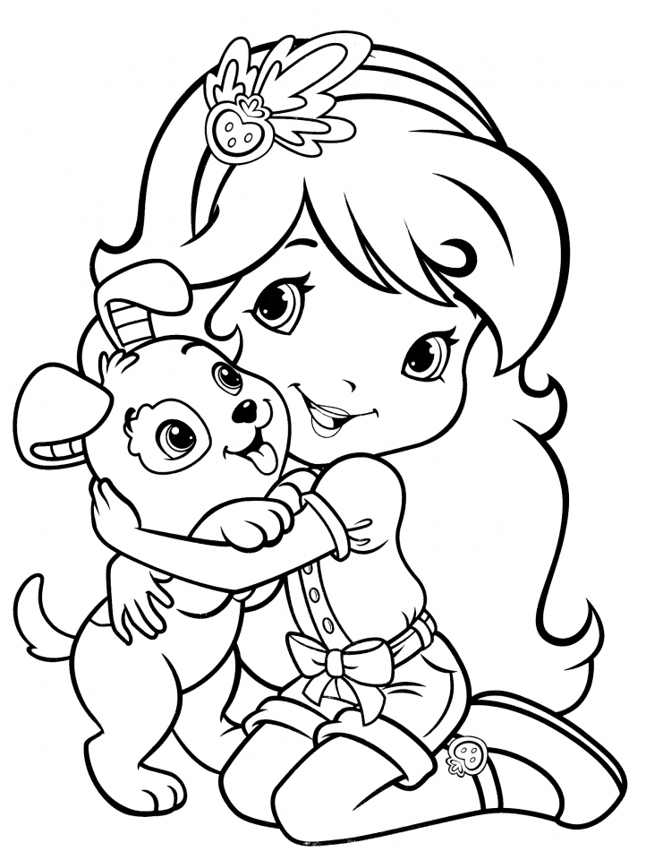 strawberry girl coloring pages strawberry shortcake 4 coloringcolorcom coloring girl strawberry pages