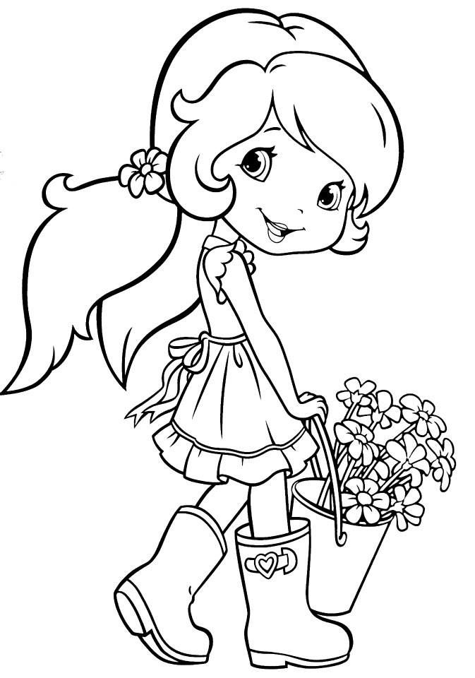 strawberry girl coloring pages strawberry shortcake 43 coloringcolorcom coloring pages girl strawberry