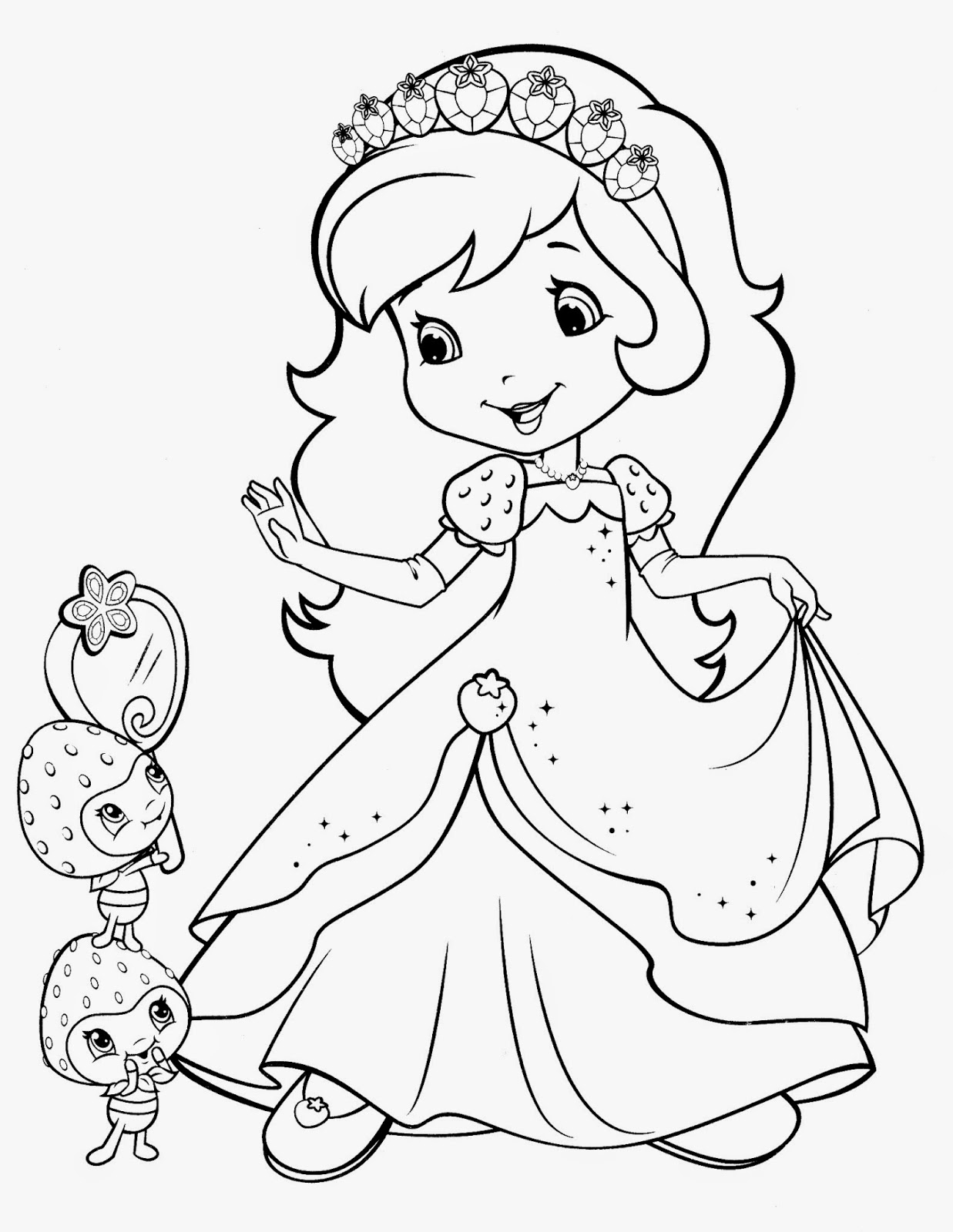 strawberry girl coloring pages strawberry shortcake berrykins coloring pages download and coloring girl pages strawberry