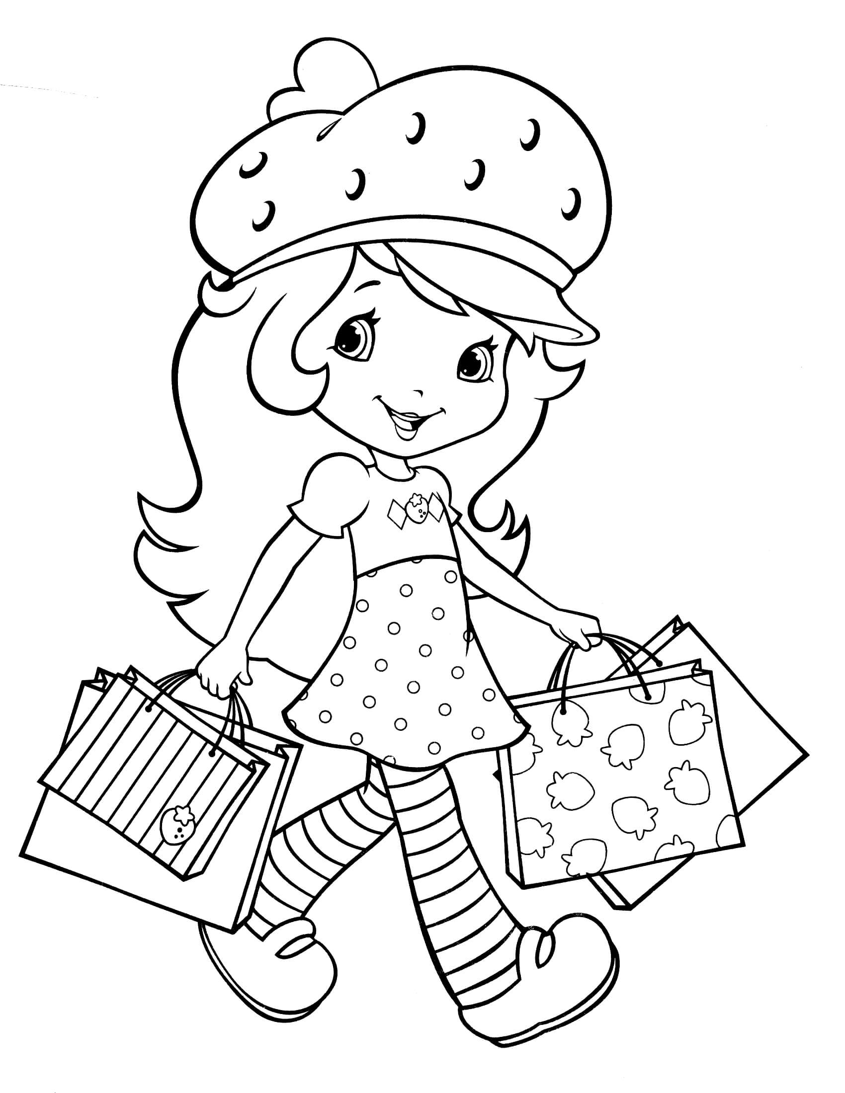 strawberry girl coloring pages strawberry shortcake coloring page with images mermaid pages girl coloring strawberry
