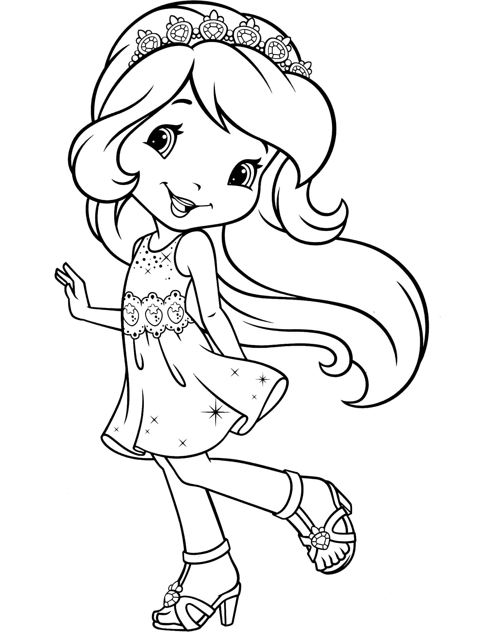 strawberry girl coloring pages strawberry shortcake drawing at getdrawings free download strawberry pages girl coloring