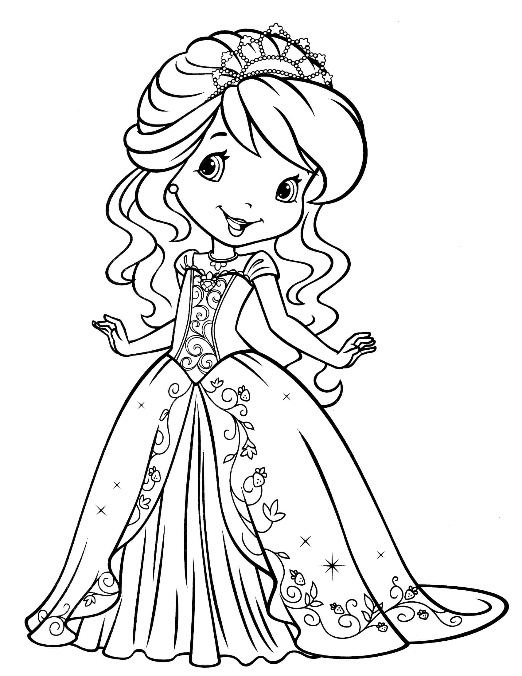 strawberry girl coloring pages strawberry shortcake girl coloring page di 2020 dengan pages girl coloring strawberry