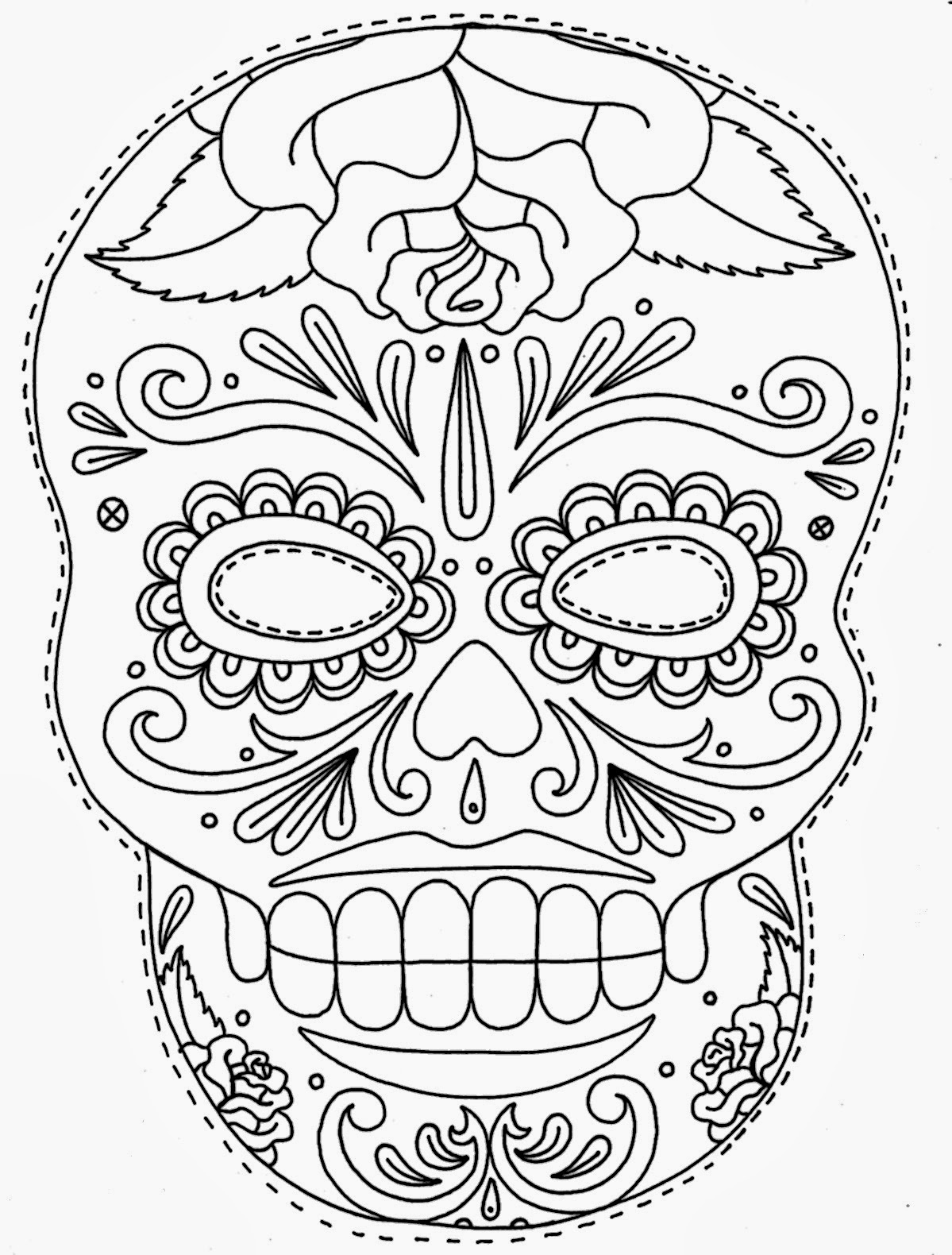 sugar skull template 10 free and fabulous halloween pumpkin stencils kitchn skull template sugar