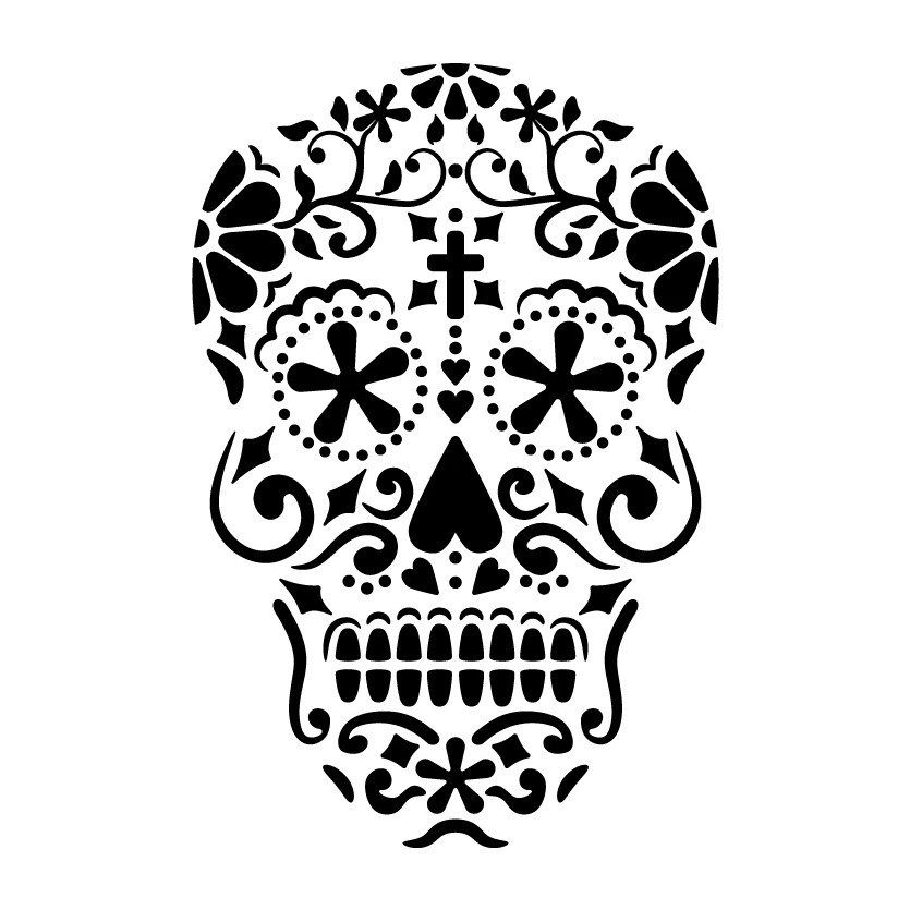 sugar skull template adult coloring pages skull coloring home template sugar skull