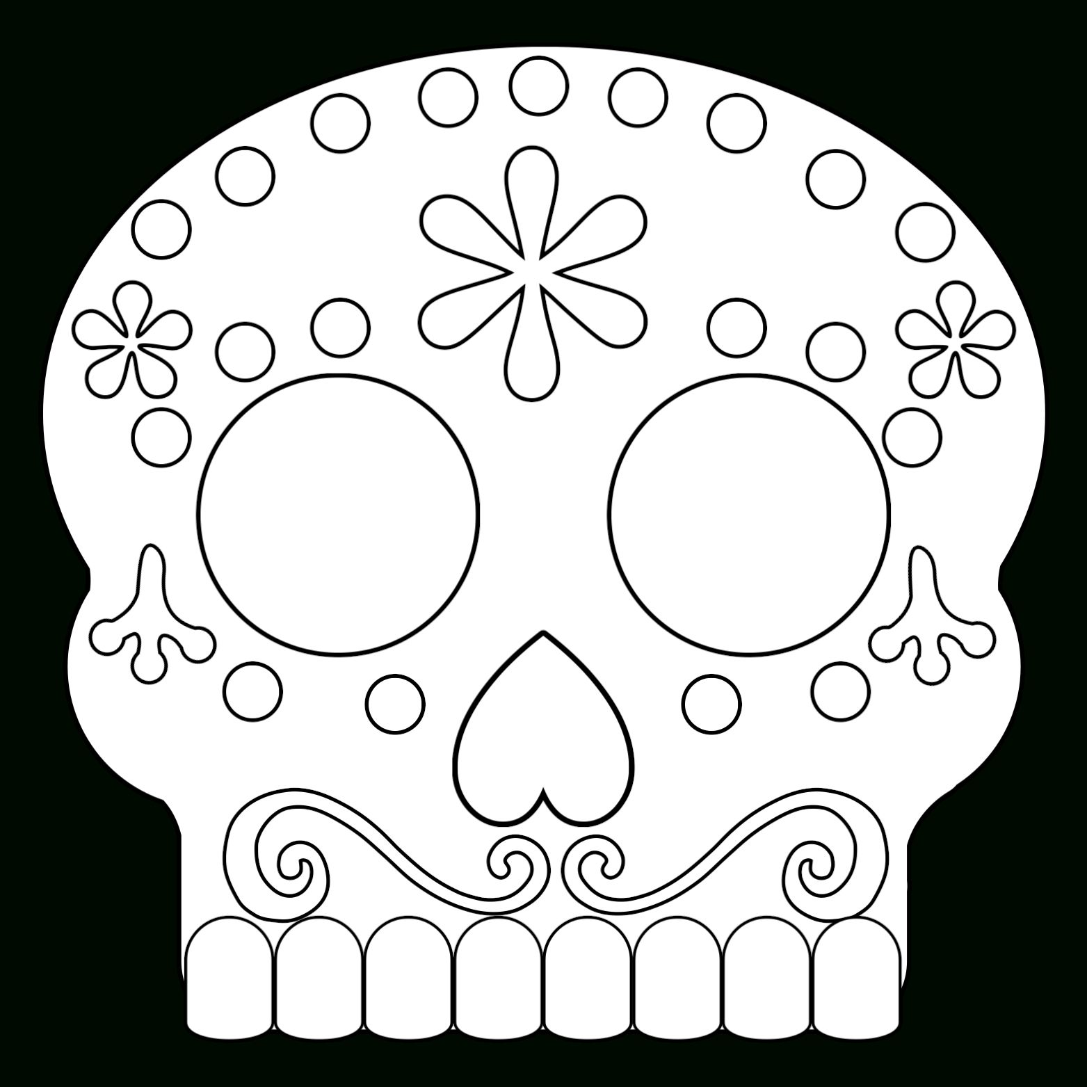 sugar skull template coloring pages dazzling day of the dead coloring pages sugar skull template