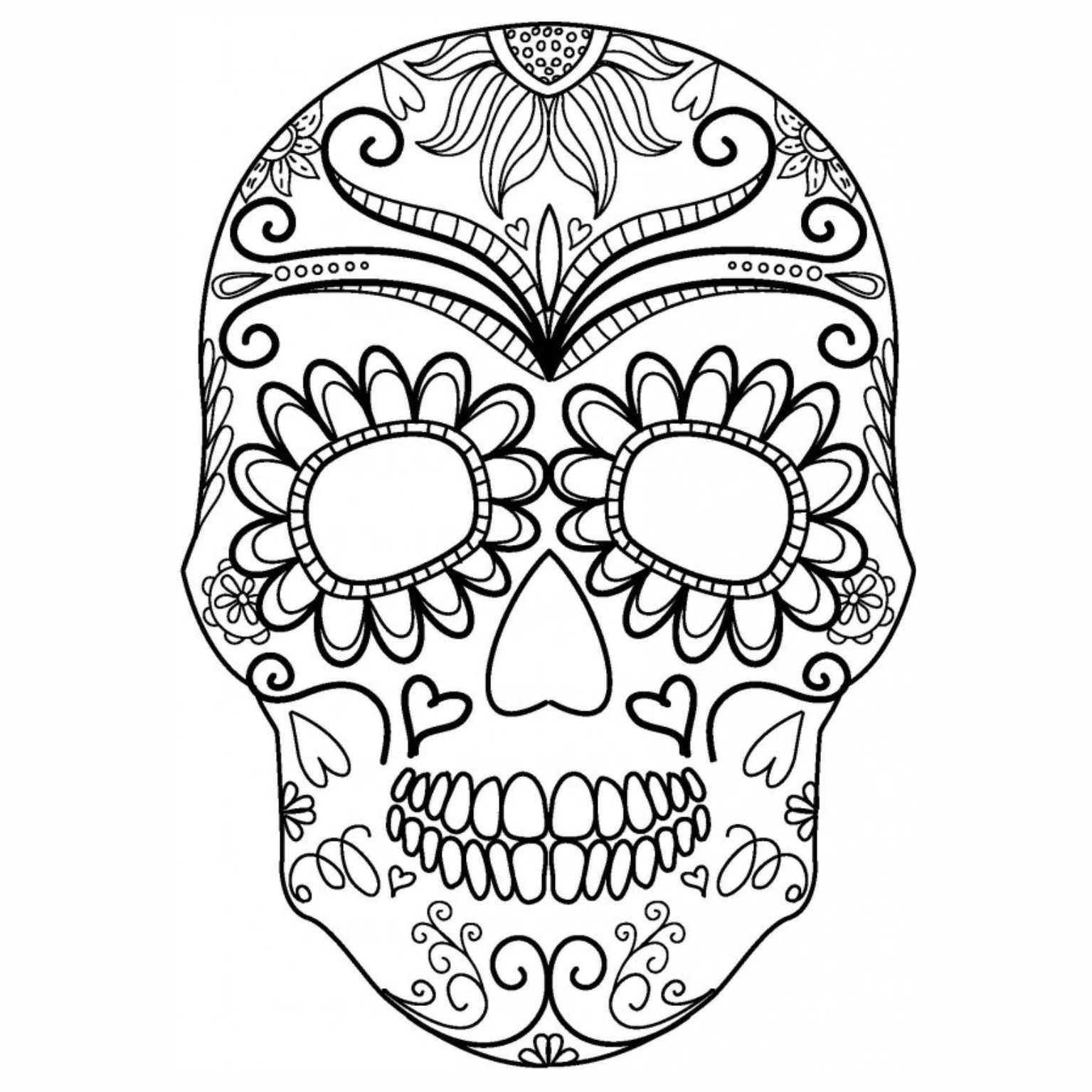 sugar skull template dia de los muertos day of the dead sugar skull silhouette skull sugar template