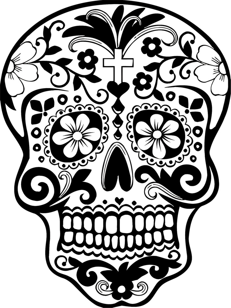 sugar skull template new skull color pages of simple sugar skull coloring pages sugar template skull