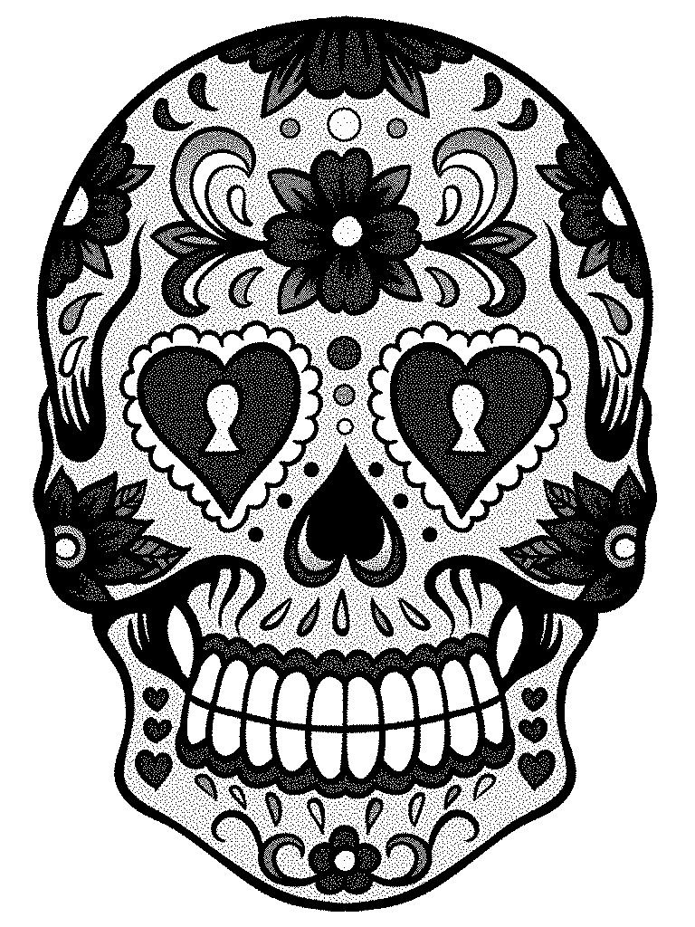 sugar skull template simple sugar skull drawing at getdrawings free download skull template sugar