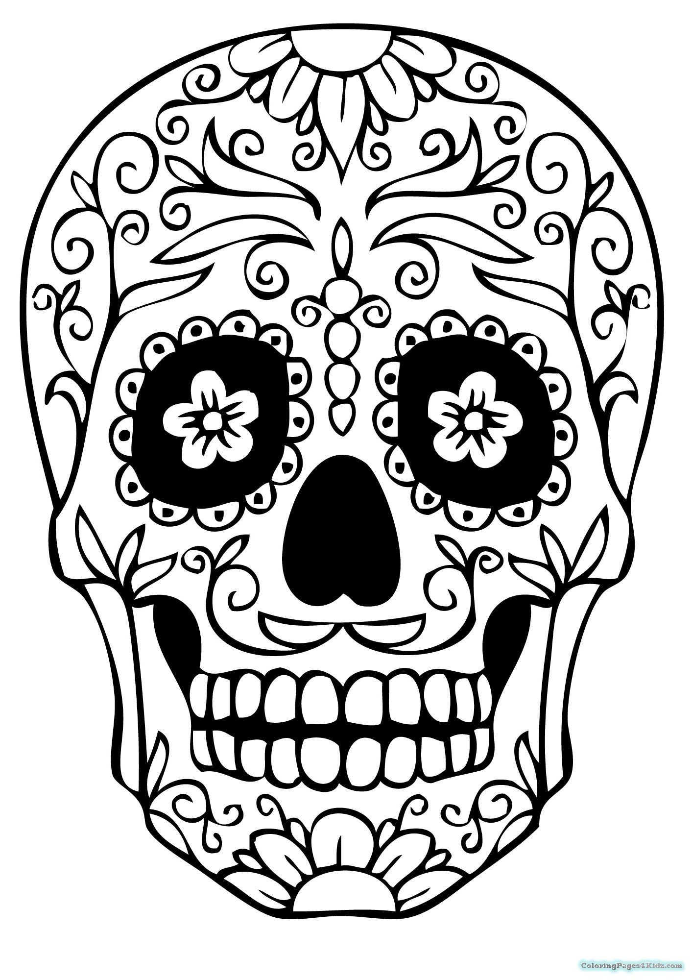 sugar skull template skull pictures art clipartsco skull sugar template