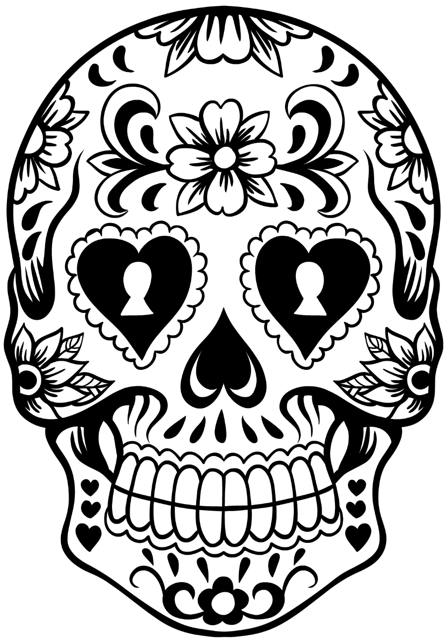 sugar skull template skull template 3 skull coloring pages template sugar skull