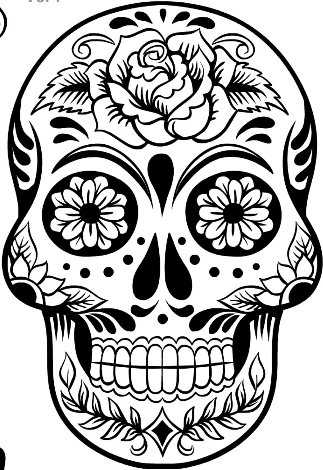 sugar skull template sugar skull a great pattern for silk painting stamping sugar skull template