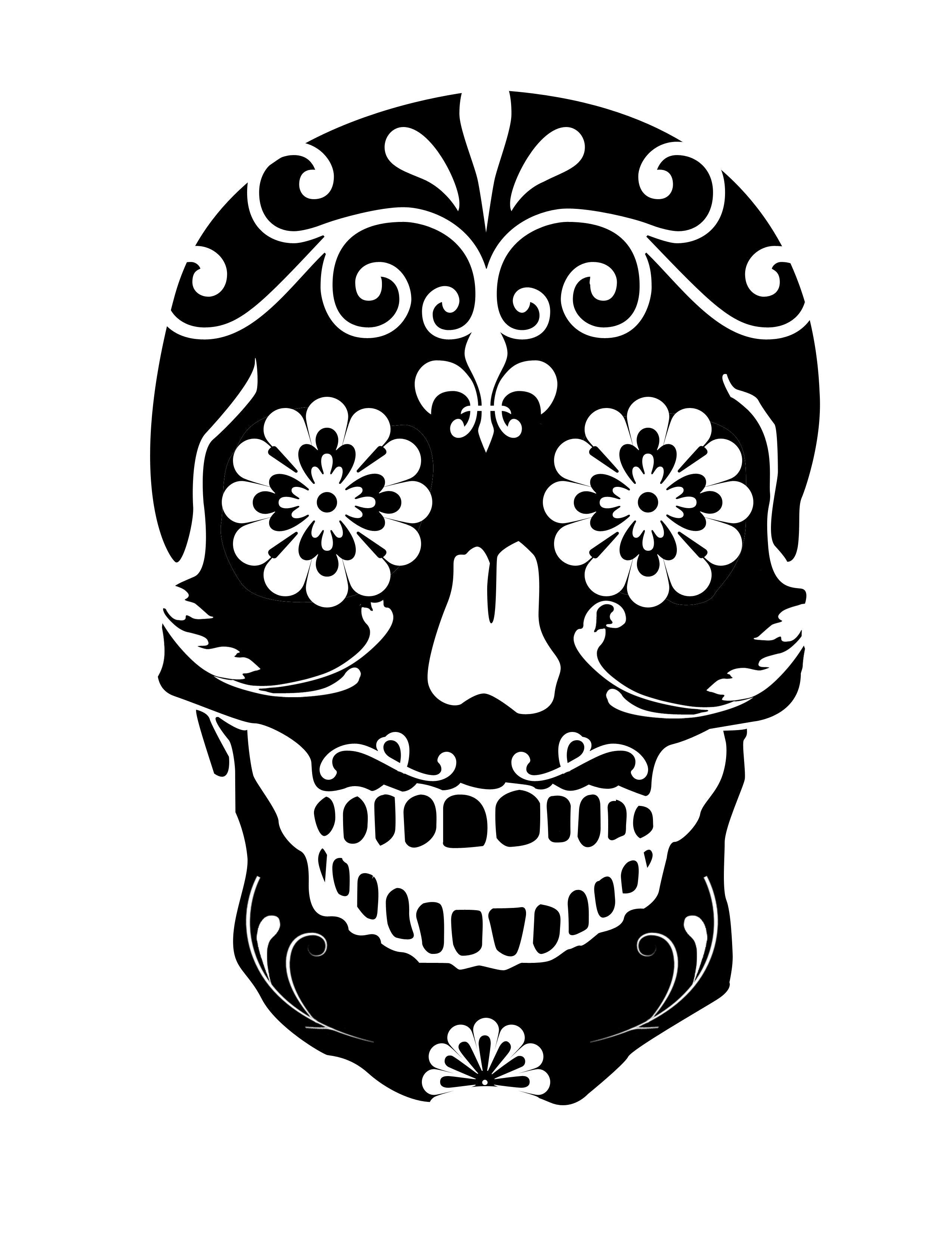 sugar skull template sugar skull drawing template at getdrawings free download sugar skull template