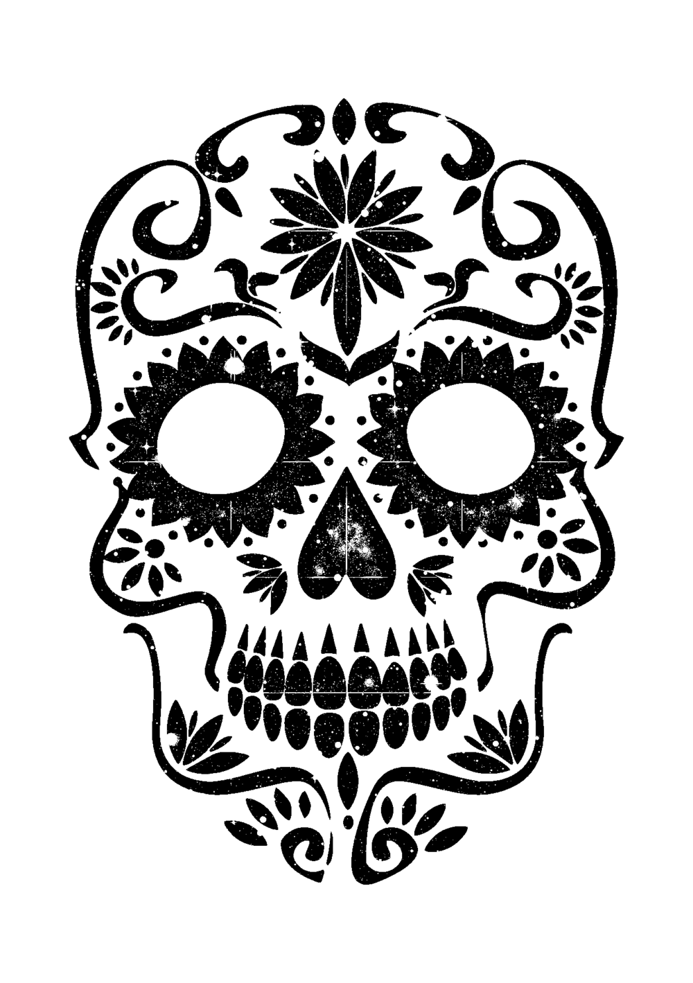 sugar skull template sugar skull template skull drawing template free documents skull template sugar