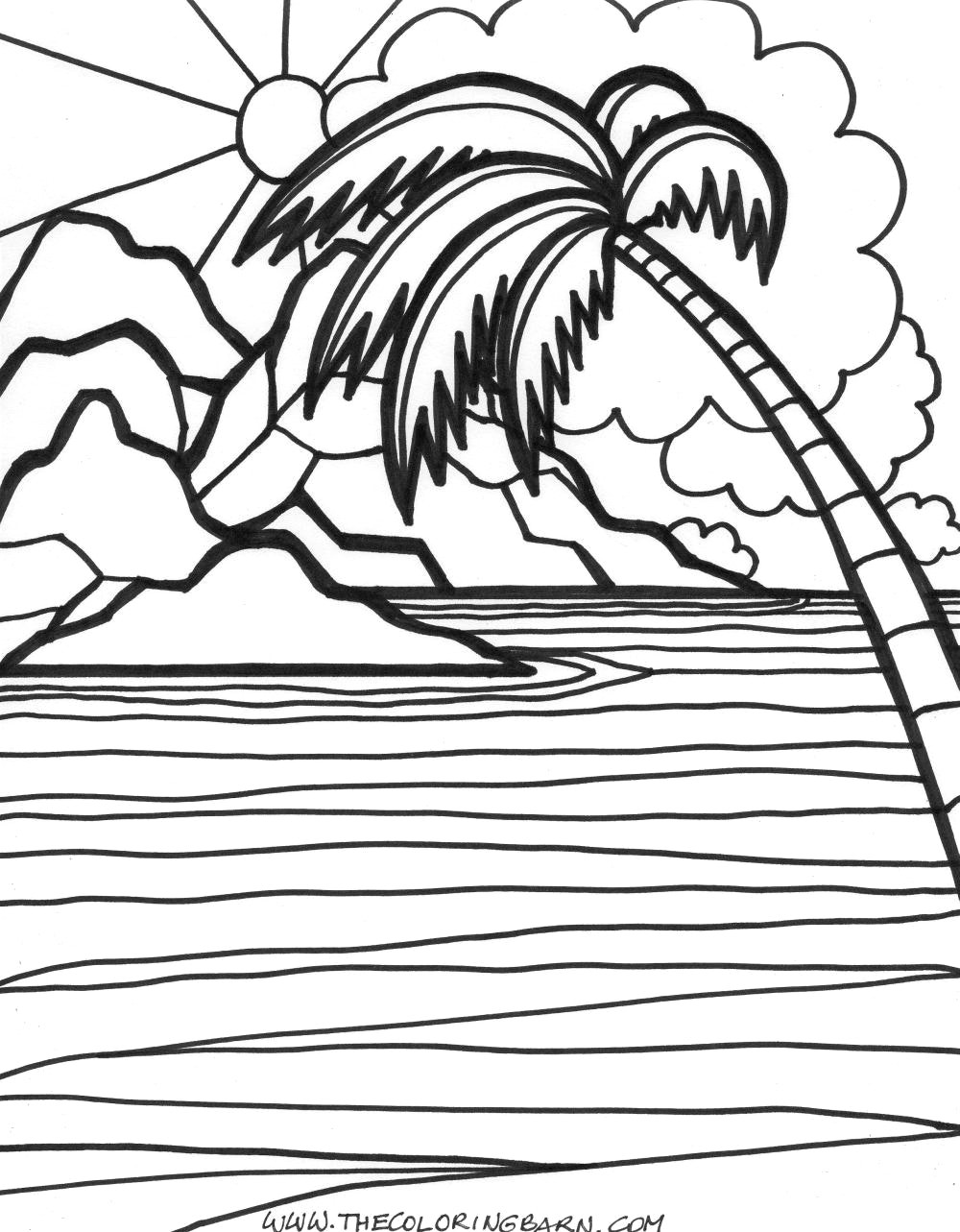 sunset coloring adult coloring pages tropical sunset coloring pages sunset coloring