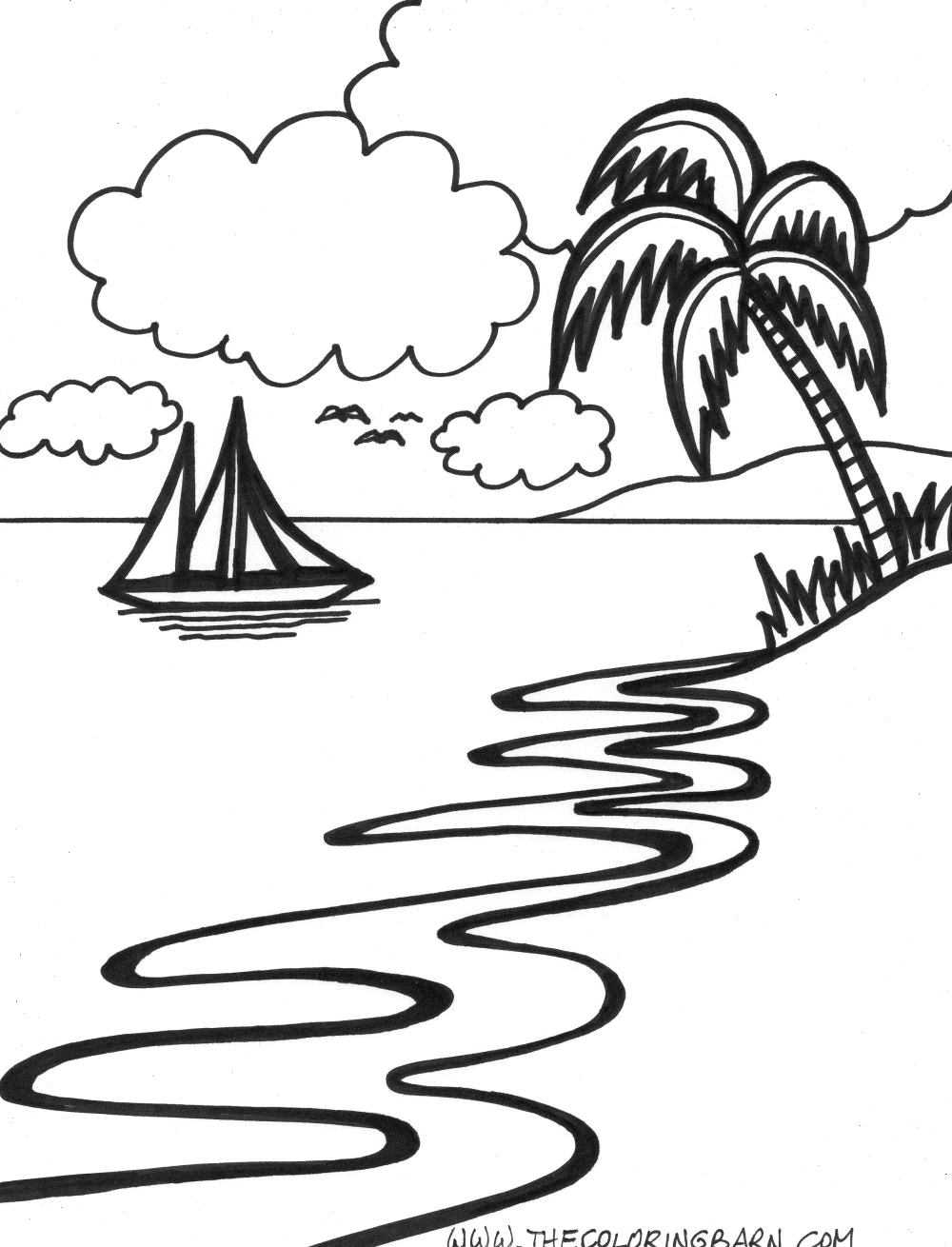 sunset coloring beach sunrise coloring page embroidery pattern beach art coloring sunset
