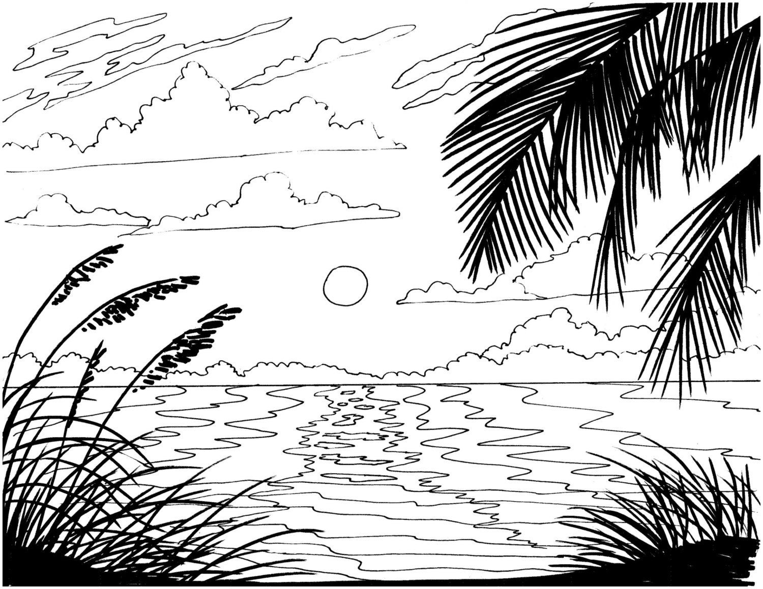 sunset coloring beach sunset coloring pages at getcoloringscom free coloring sunset