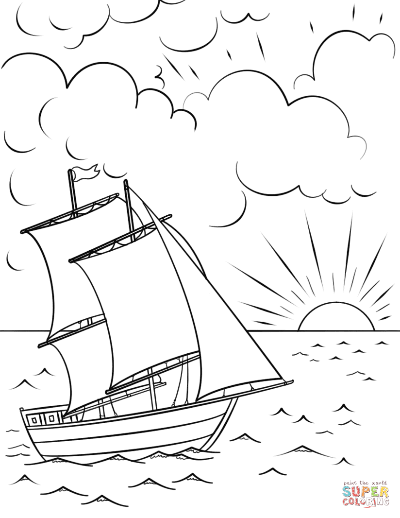 sunset coloring beach sunset coloring pages at getdrawings free download sunset coloring