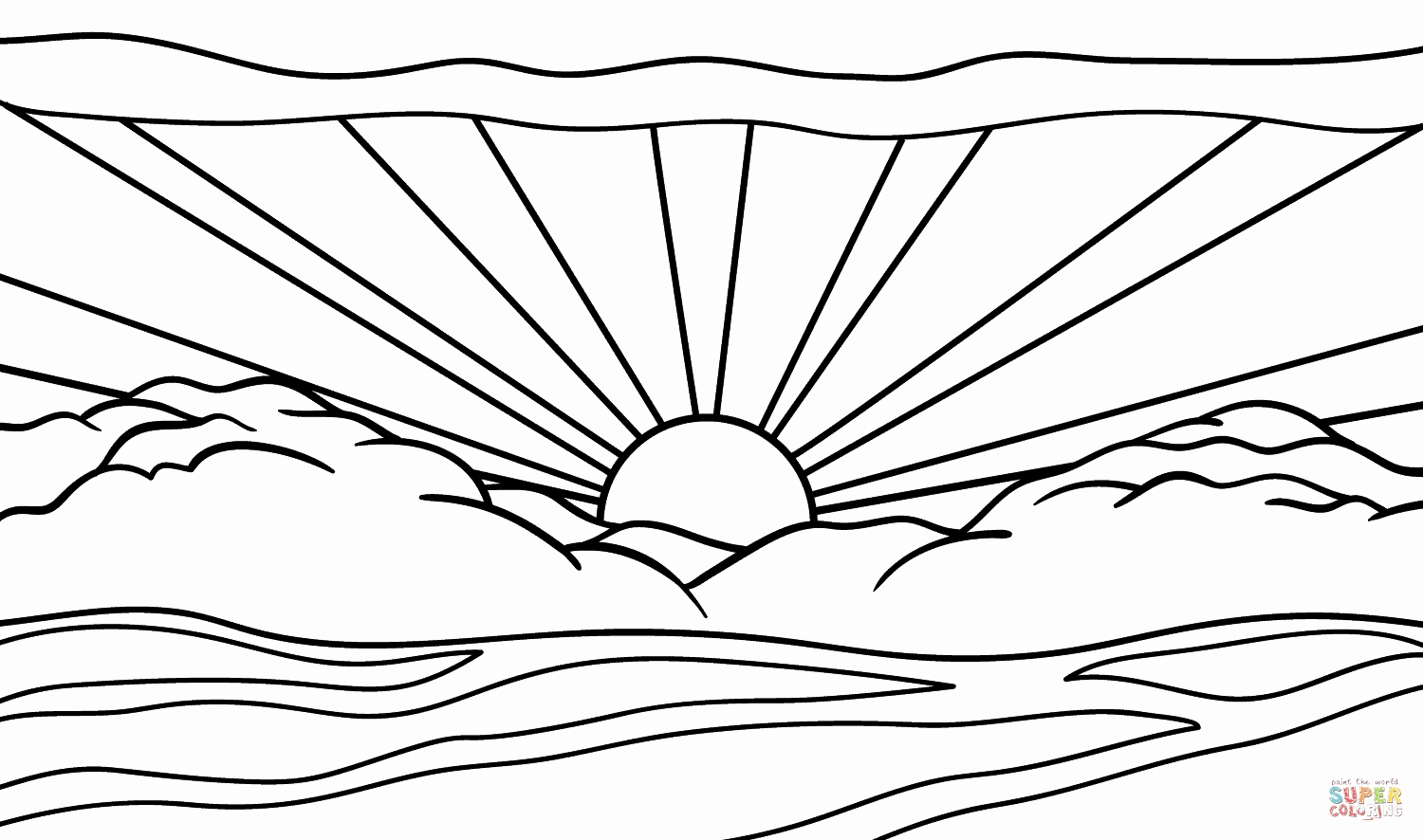 sunset coloring coloring pages for kids printable coloring pages and sunset coloring