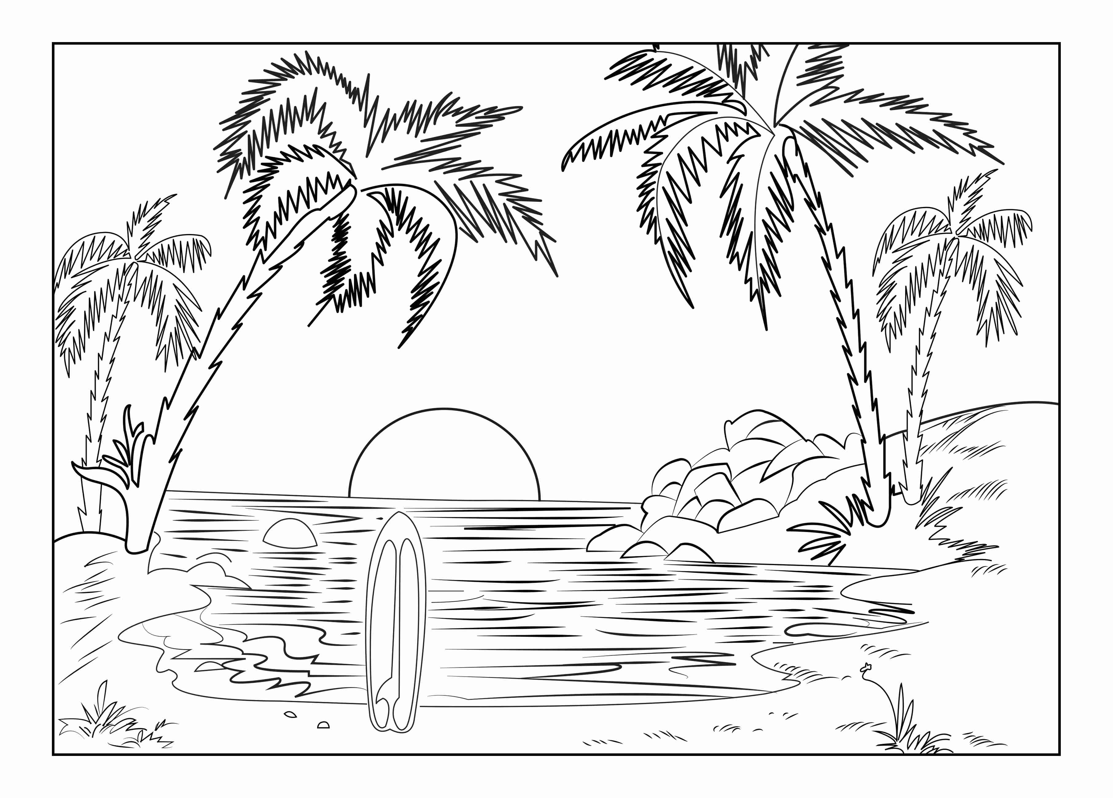 sunset coloring sunset coloring pages to download and print for free coloring sunset 1 1