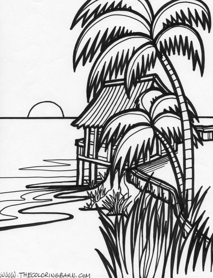sunset coloring sunset drawing black and white at getdrawings free download coloring sunset