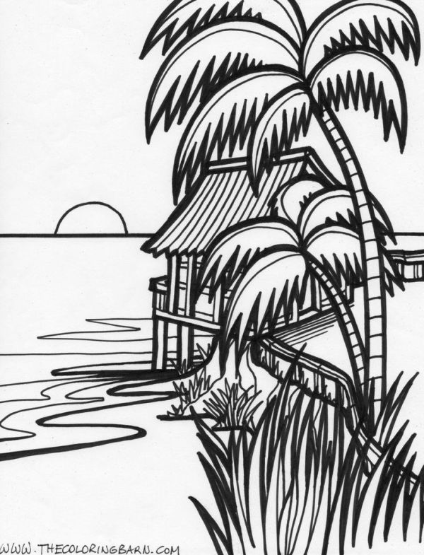 sunset coloring sunset drawing black and white at getdrawings free download coloring sunset 1 1
