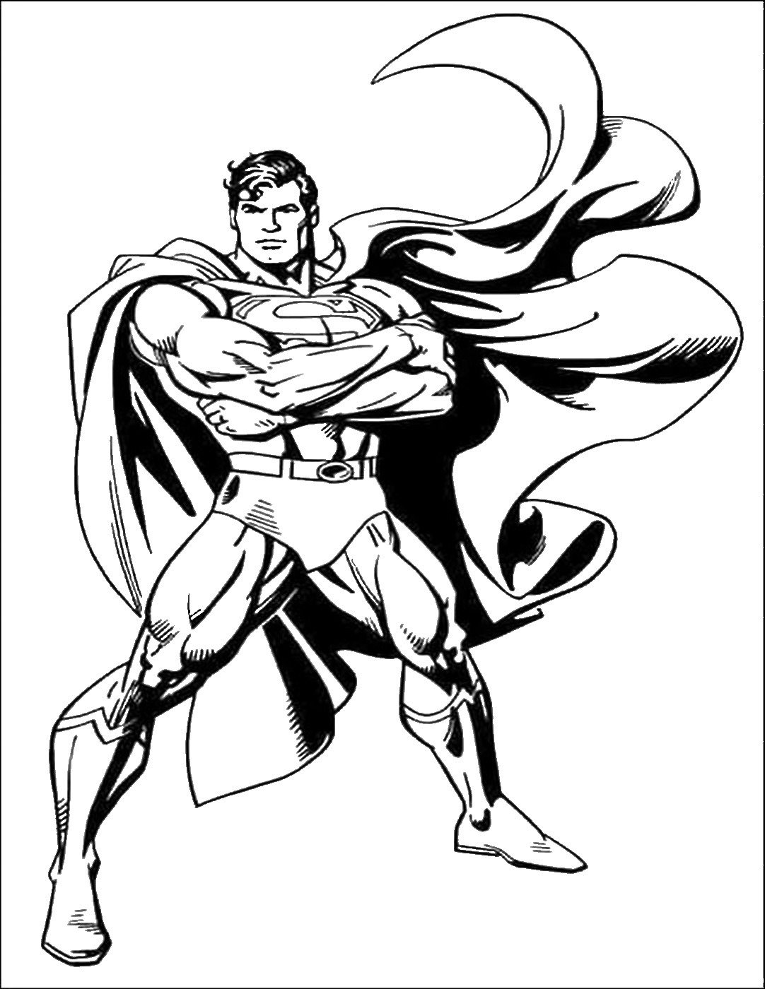 Superman coloring images