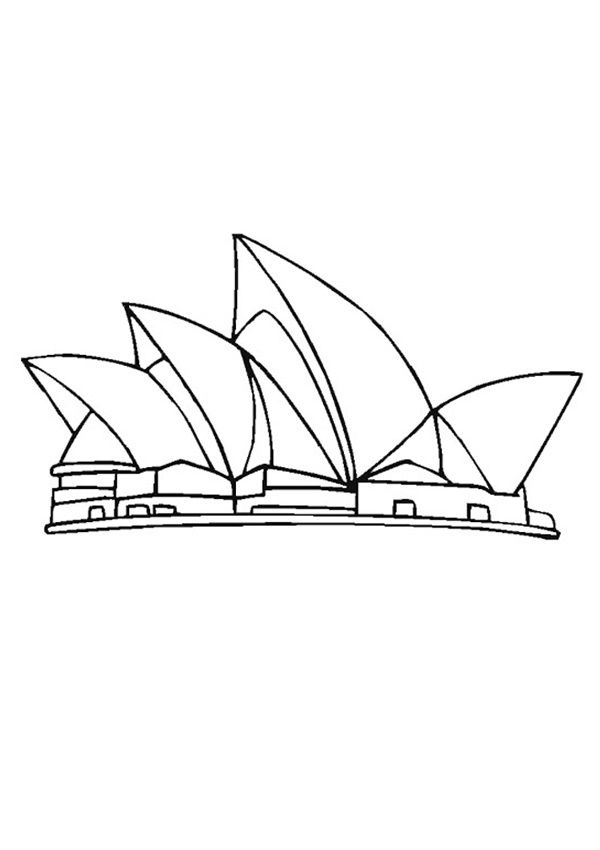 sydney opera house coloring page image result for sydney opera house party decor coloring coloring sydney house page opera