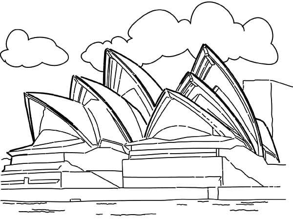 sydney opera house coloring page opera house sidney australia coloring pages landmark edition coloring opera page house sydney