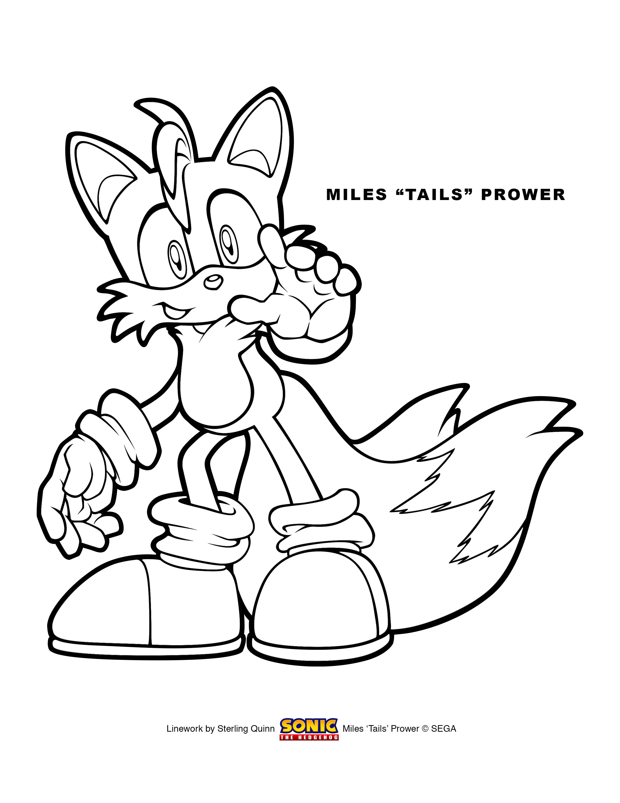 tails coloring page sonic the hedgehog coloring pages tails coloring home coloring page tails