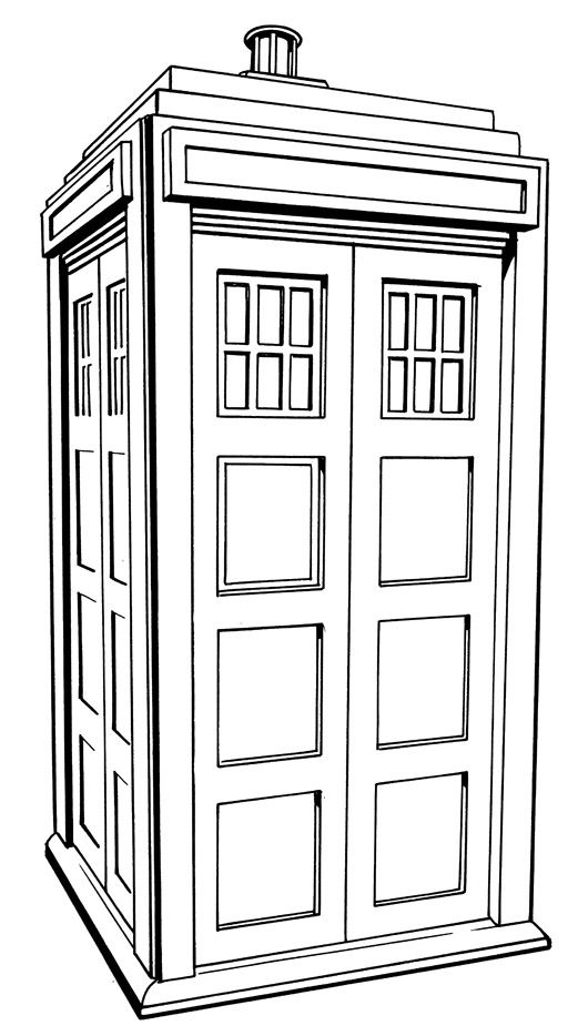 tardis colouring pages tardis line drawing at getdrawings free download pages tardis colouring