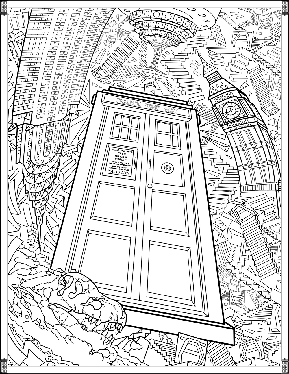 tardis colouring pages tardis outline by callmepin on deviantart pages tardis colouring