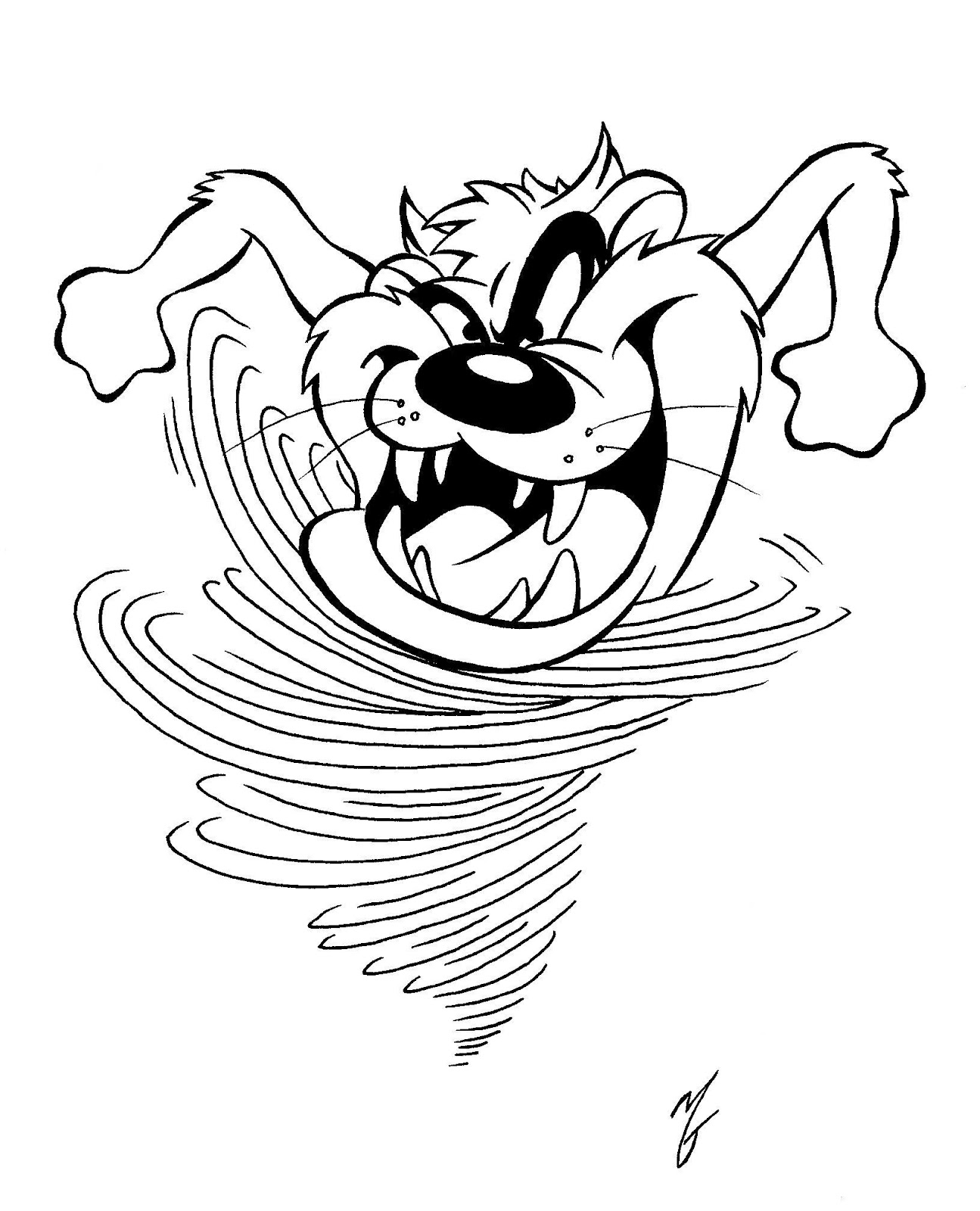 tasmanian devil drawing tasmanian devil cartoon drawing at getdrawings free download drawing tasmanian devil