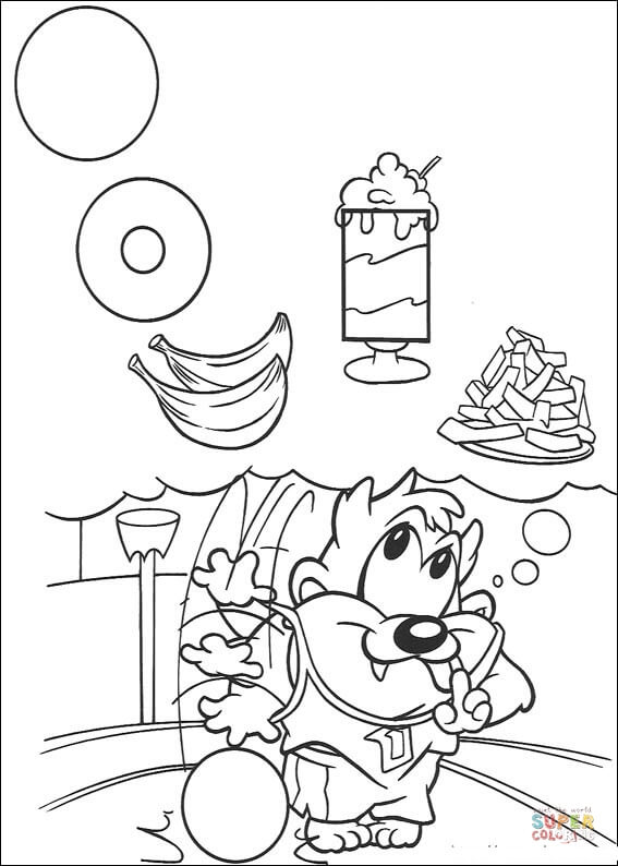 taz coloring pages tasmanian devil drawing at getdrawings free download coloring taz pages