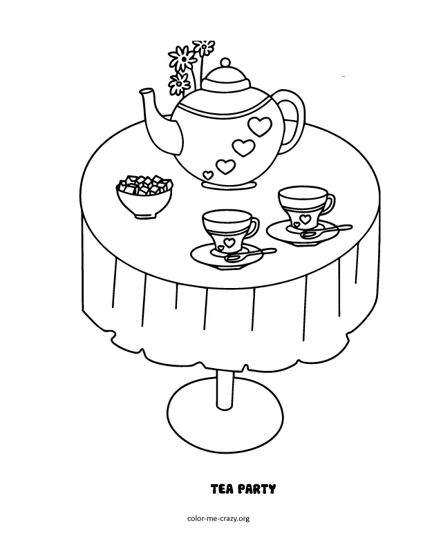 tea party colouring pages boston tea party coloring page coloring home tea colouring party pages