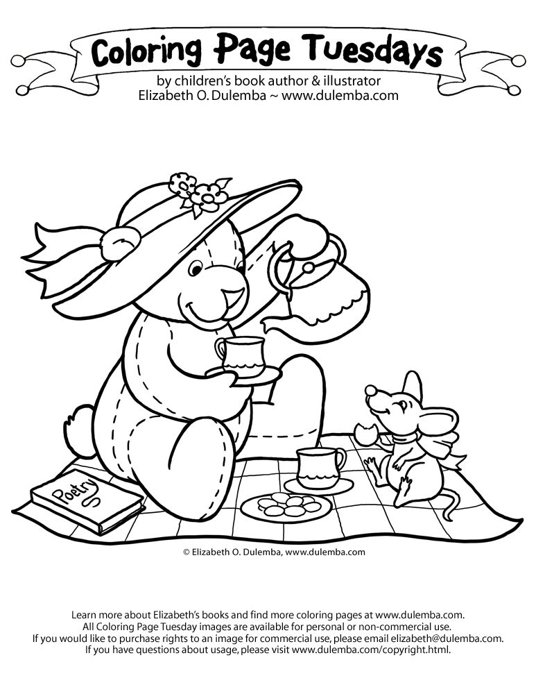 tea party colouring pages elegant tea party coloring book with images coloring colouring party pages tea