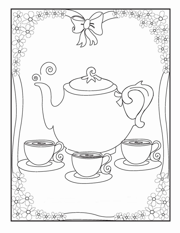 tea party colouring pages printable tea party coloring page 3 party pages colouring tea