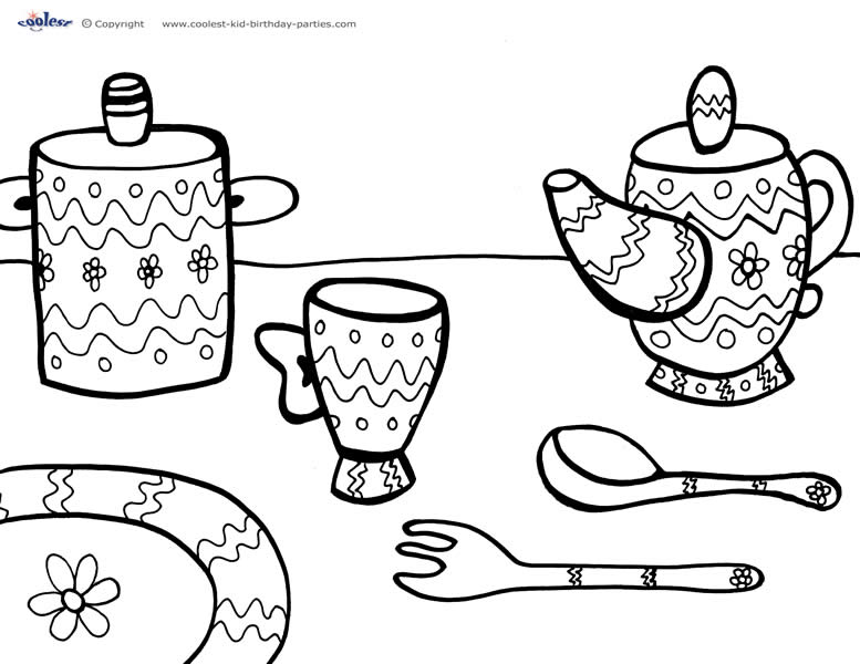tea party colouring pages tea party coloring pages birthday printable tea pages party colouring