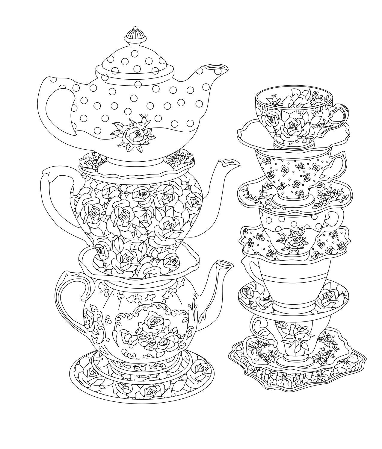 tea party colouring pages tea party coloring pages pages party colouring tea