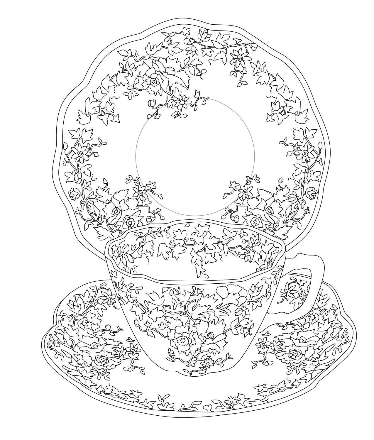 tea party colouring pages tea party coloring pages party pages colouring tea
