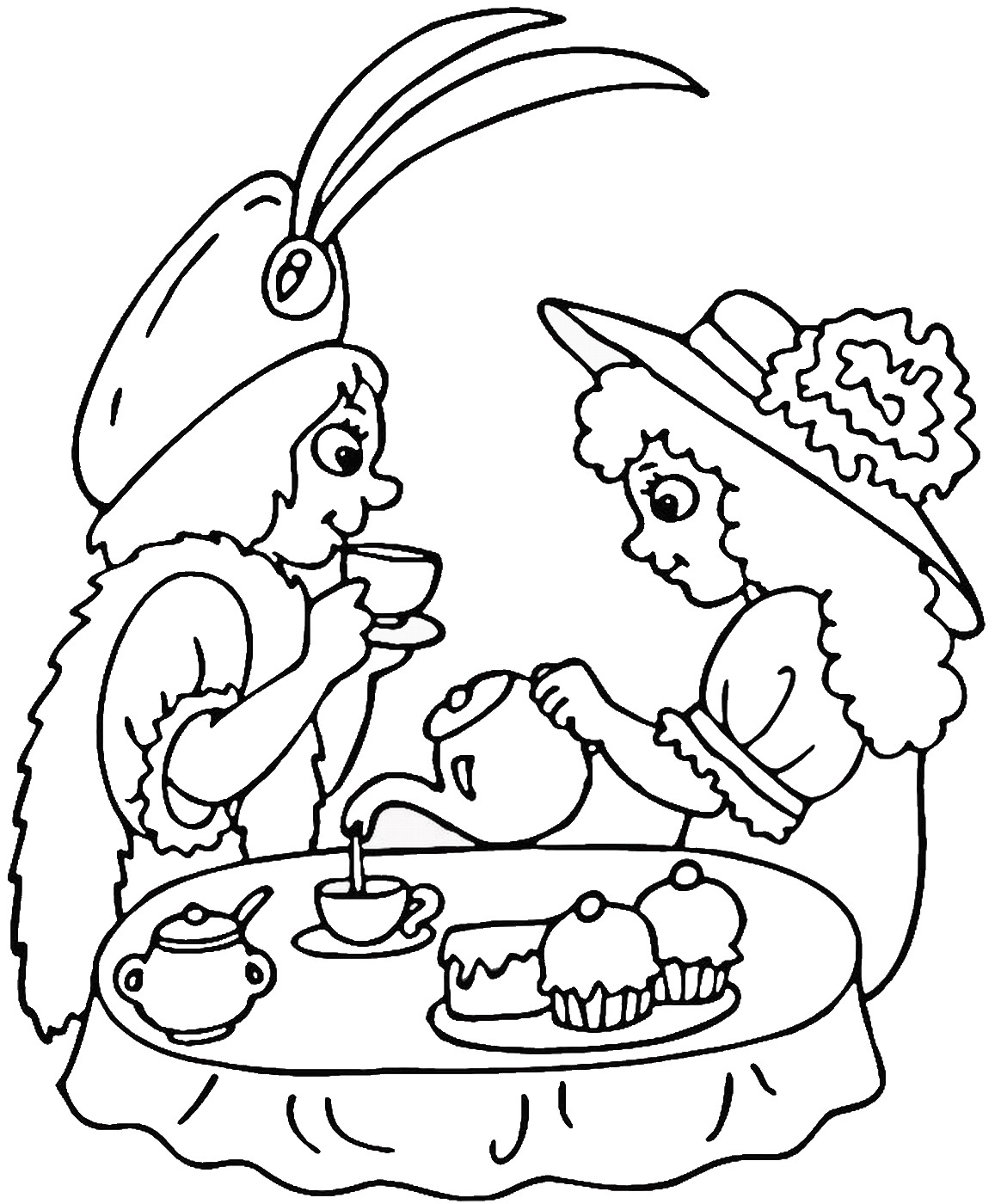 tea party colouring pages tea party coloring pages to download and print for free pages tea party colouring