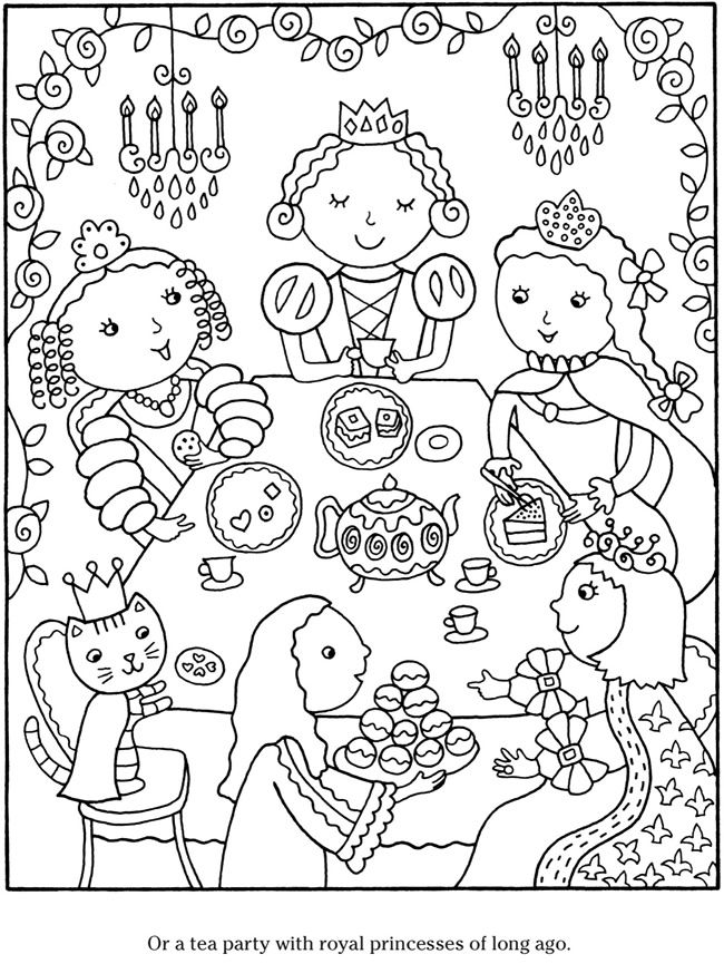 tea party colouring pages tea party wwwbambolettacom with images waldorf dolls colouring pages party tea