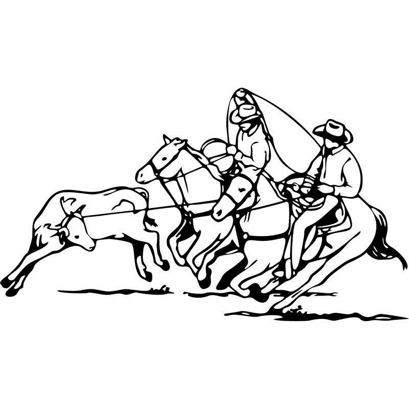 Team roping coloring pages