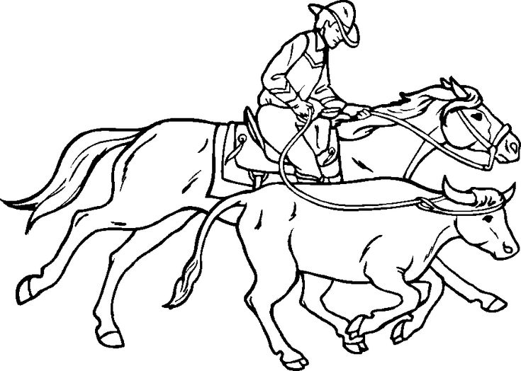 team roping coloring pages team roping decal ebay pages coloring team roping