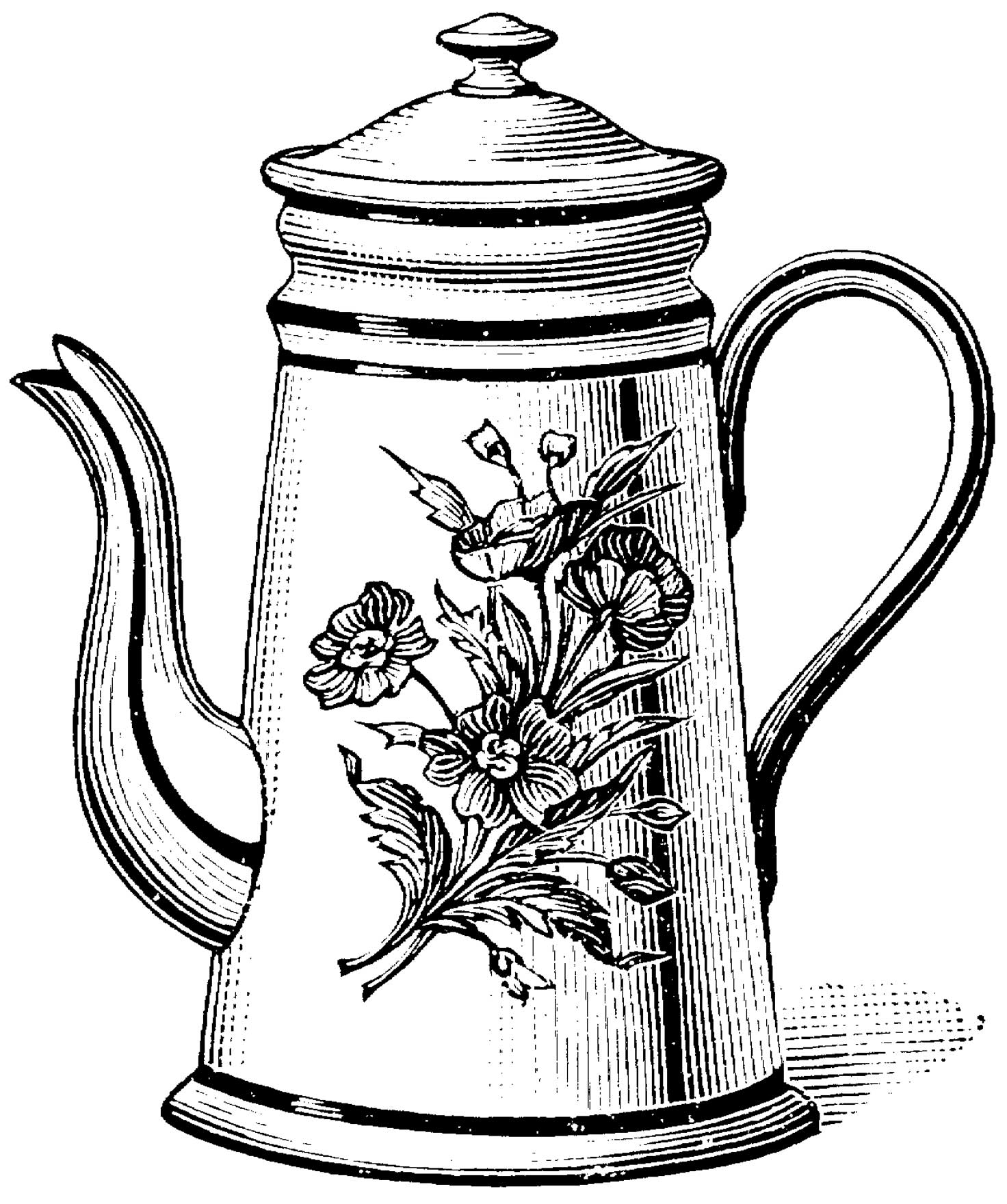 teapot colouring pin on coloring pages printable teapot colouring