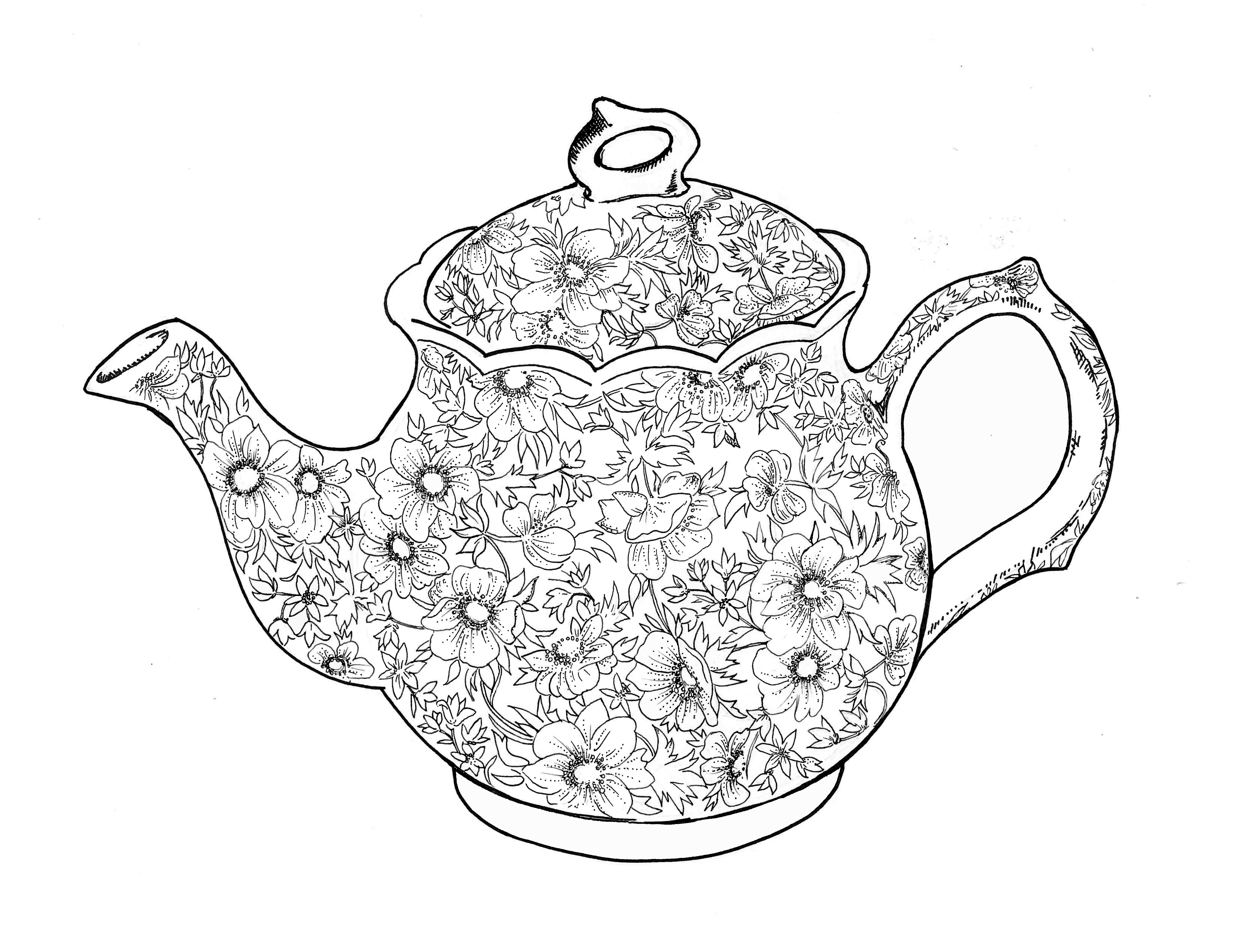 teapot colouring teapot coloring page printable teapot coloring page color teapot colouring
